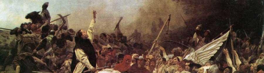 """Walter Dodde (Bildausschnitt aus dem Gemälde """"Schlacht von Worringen"""" von Janssen)"""